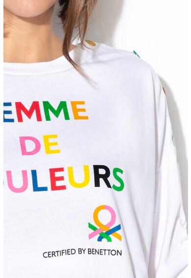 United Colors of Benetton Bluza sport cu imprimeu text Femei