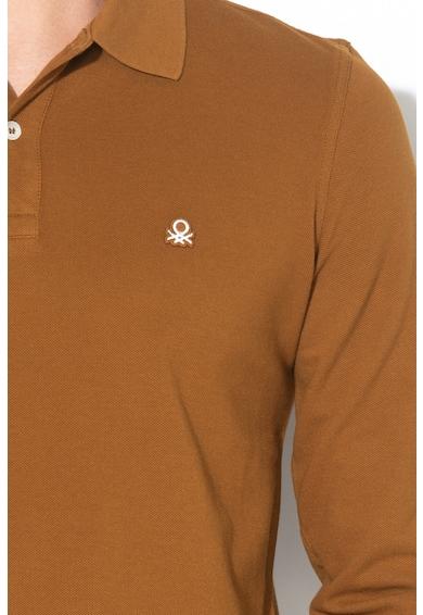 United Colors of Benetton Bluza polo cu logo brodat Barbati