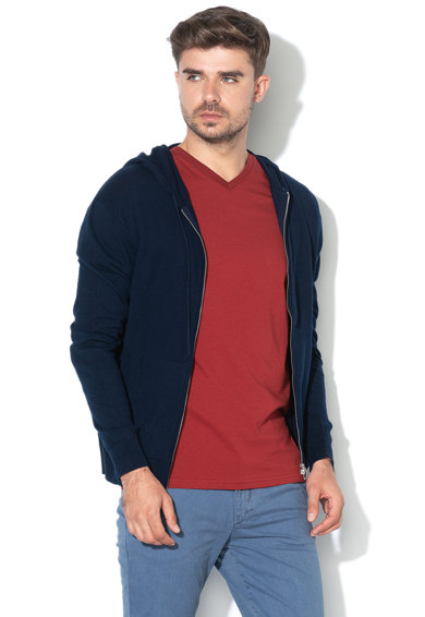 United Colors of Benetton Cardigan din amestec de casmir, cu gluga Barbati