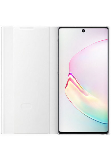 Samsung Предпазен калъф  Clear View за Galaxy Note 10, White Жени