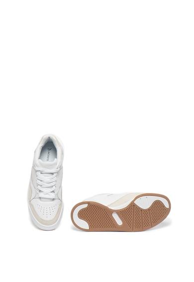 Lacoste Pantofi sport de piele si piele nabuc Court Slam Femei