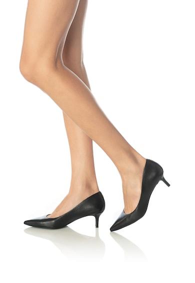 Lauren Ralph Lauren Pantofi de piele cu toc kitten Adrienne Femei