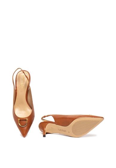 Lauren Ralph Lauren Pantofi de piele cu toc kitten Amsberg Femei