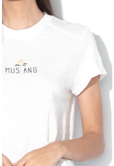 Mustang Tricou cu logo brodat Alina Femei