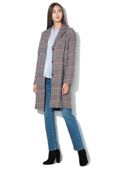 Mustang Heather tyúklábmintás gombos kabát női