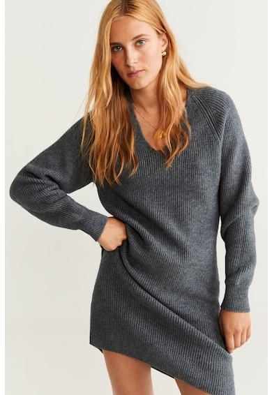 Mango Rochie tricotata cu decolteu in V Korina Femei