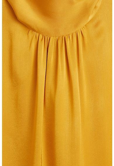 Mango Bluza cu guler scurt si funda din panglici pe partea din spate Lazo Femei