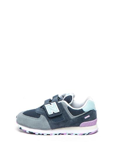 New Balance Спортни обувки 574 от велур с велкро Момичета