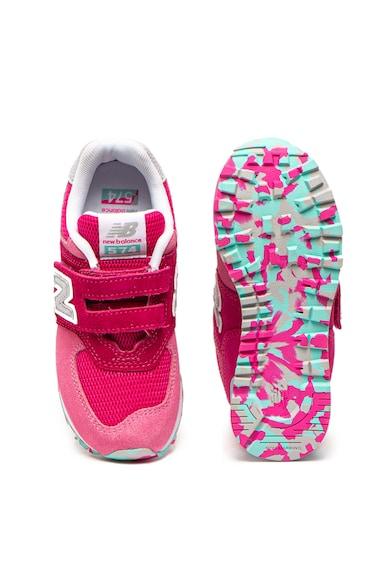 New Balance Pantofi sport cuvelcro si insertii de plasa 574 Fete