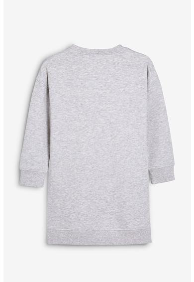 NEXT Rochie tip bluza sport cu imprimeu text metalic Fete