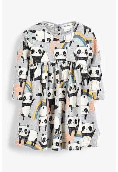 NEXT Rochie evazata, cu imprimeu cu urs panda Fete