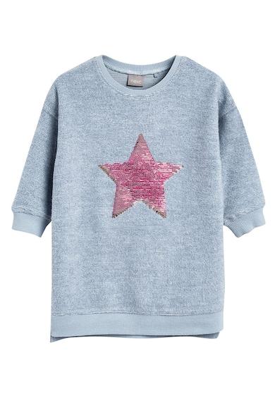 NEXT Rochie tip bluza, cu aplicatie cu paiete reversibile Fete