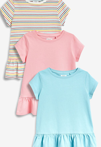 NEXT Set de tricouri cu terminatie evazata-3 piese Fete