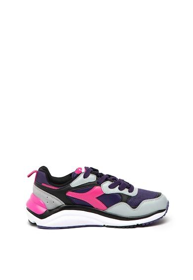 Diadora Pantofi sport cu model colorblock si garnituri de piele intoarsa Whizz Run Femei