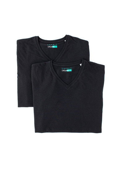 Esprit Set de tricouri din bumbac organic - 2 piese Barbati