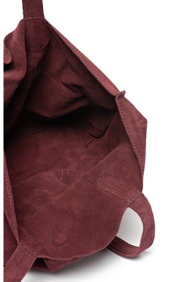 Pepe Jeans London Geanta de piele intoarsa, cu bareta de umar Berta Femei