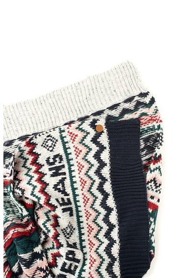 Pepe Jeans London Fular supradimensionat cu model fair isle Omar Femei