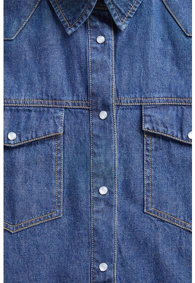 Mango Риза от деним с джоб на гърдите Жени