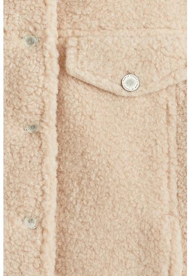 Mango Jacheta de blana shearling sintetica Texas Femei