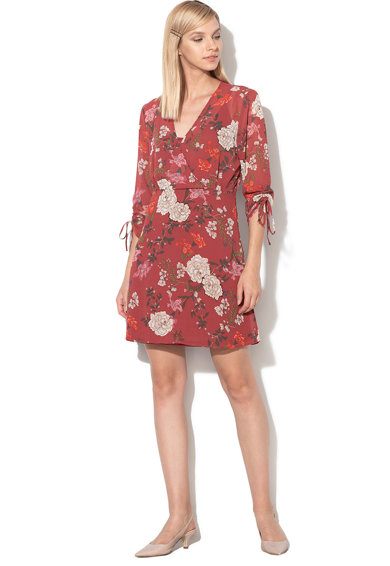 Only Rochie cu maneci 3/4 si model floral Mimi Femei