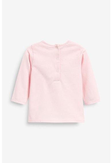NEXT Bluza cu aplicatie din material terry Fete