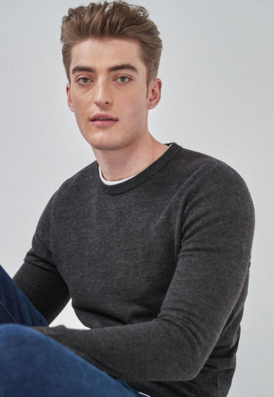 NEXT Pulover tricotat fin Barbati