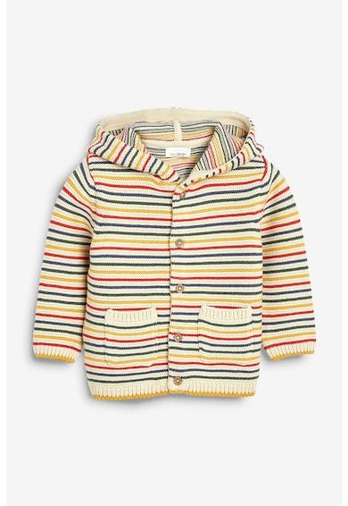 NEXT Cardigan tricotat cu model in dungi, cu gluga Fete