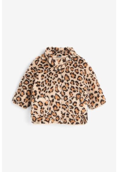 NEXT Jacheta din material teddy, cu animal print Fete