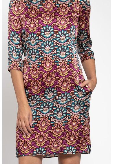 Maiocci Rochie drapata cu model oriental Femei