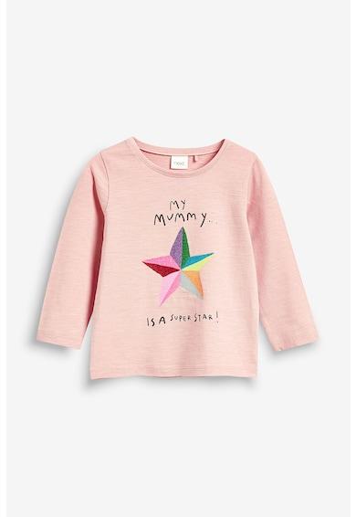 NEXT Bluza cu imprimeu text Fete