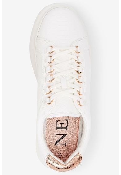 NEXT Pantofi sport de piele ecologica cu insertii metalizate Femei
