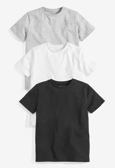 NEXT Set de tricouri cu decolteu la baza gatului - 3 piese Baieti
