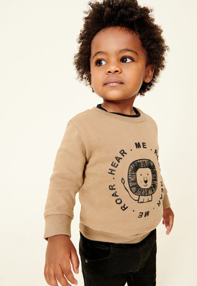 NEXT Bluza sport cu imprimeu text si animale Baieti
