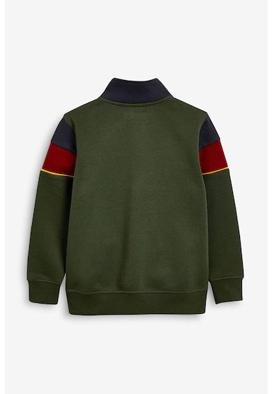 NEXT Bluza sport colorblock cu fenta cu fermoar Baieti
