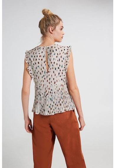 Motivi Bluza cu decolteu in V si model abstract Femei