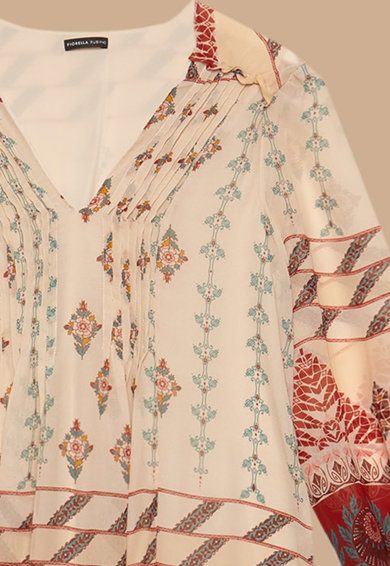 Fiorella Rubino Rochie cu decolteu si imprimeu geometric Femei