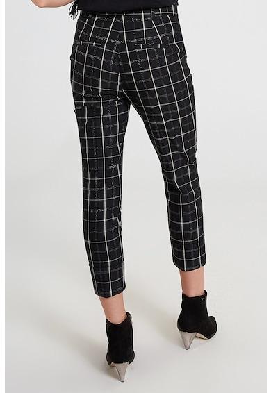 Motivi Pantaloni capri conici cu model tartan Femei