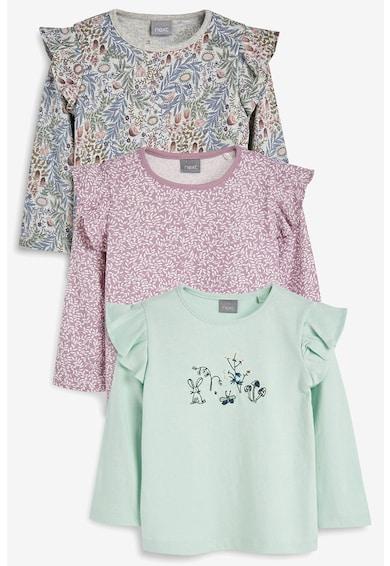 NEXT Set de bluze cu volane pe umeri, 3 piese Fete