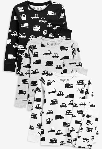 NEXT Set de pijamale cu imprimeu, 3 perechi Baieti