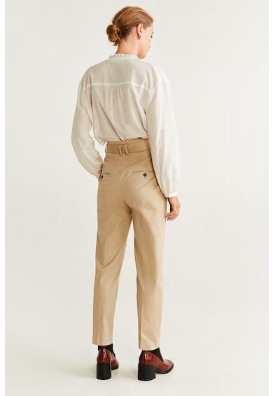 Mango Pantaloni straight fit cu o curea detasabila Audrey Femei