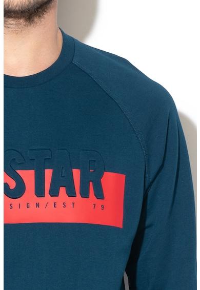 Big Star Bluza sport cu decolteu la baza gatului si broderie logo Mariam Barbati