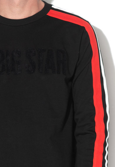 Big Star Bluza sport cu logo din material terry Noellen Barbati