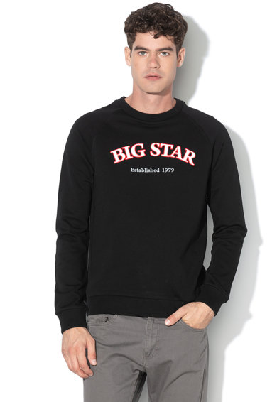 Big Star Bluza de bumbac cu imprimeu logo Barbati