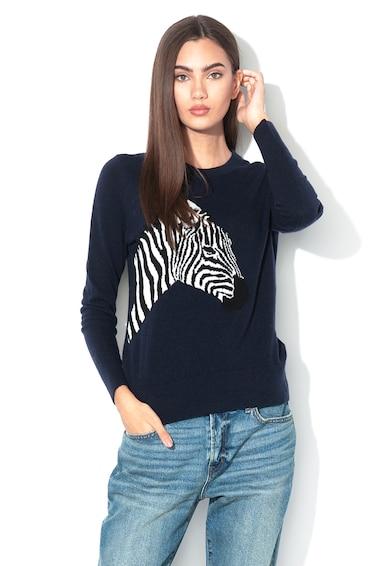 Banana Republic Pulover din amestec de lana cu model zebra Femei