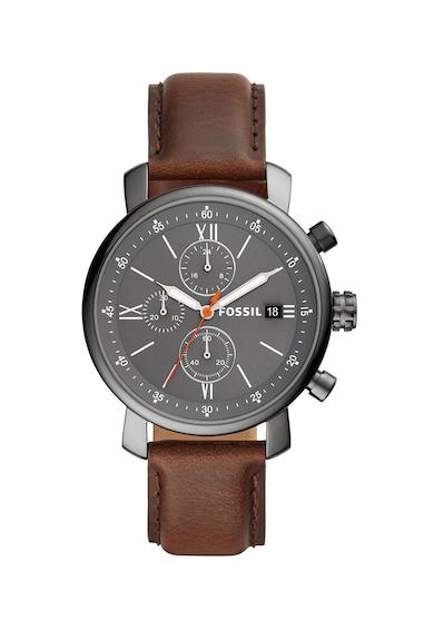 Fossil Часовник Rhett с кожена каишка и хронометър Мъже