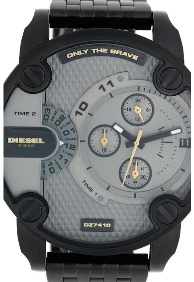 Diesel Ceas cronograf cu doua fuse orare Barbati