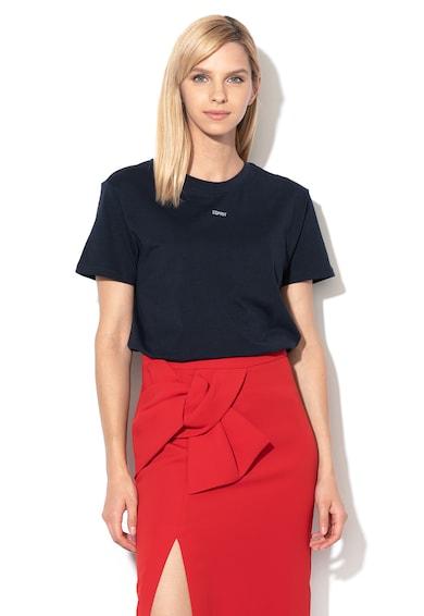 Esprit Tricou din bumbac organic, cu logo Femei