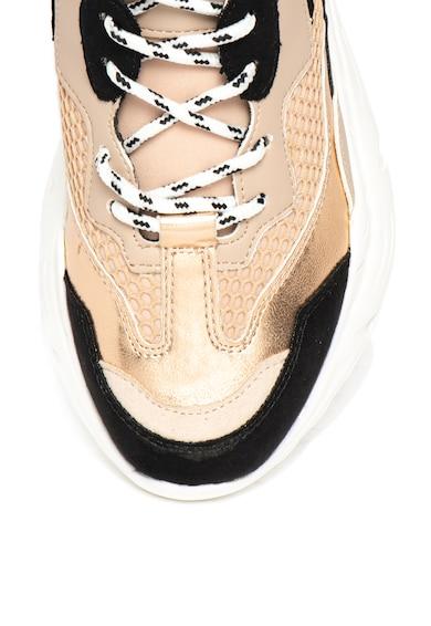 Steve Madden Pantofi sport cu talpa masiva, model colorblock su garnituri metalizate Antonia Femei