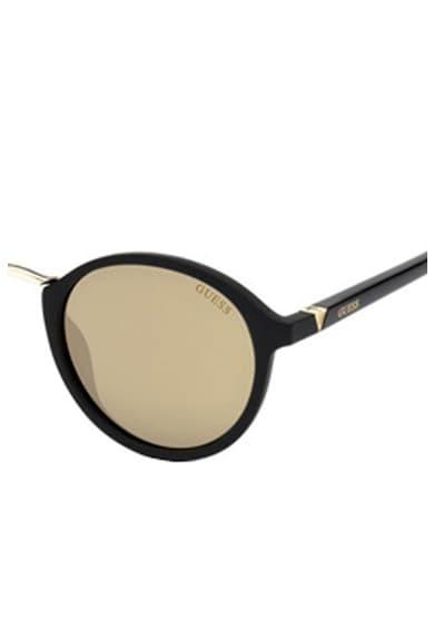 Guess Овални слънчеви очила с метални елементи Мъже