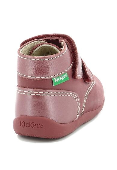 Kickers kids Кожени боти Bonkro с велкро Момичета